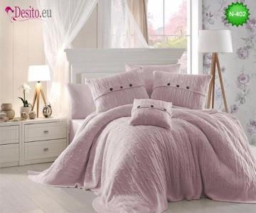 Спален комплект с плетено одеало N-402