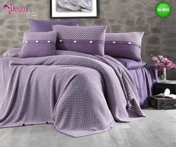 Спален комплект с плетено одеало N-404