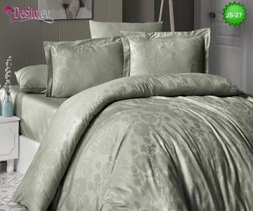 Луксозно спално бельо от памук-сатен с жакард JS-27