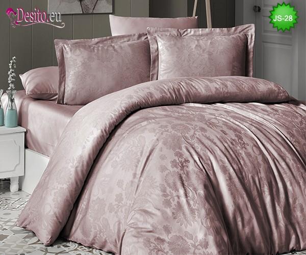 Луксозно спално бельо от памук-сатен с жакард JS-28