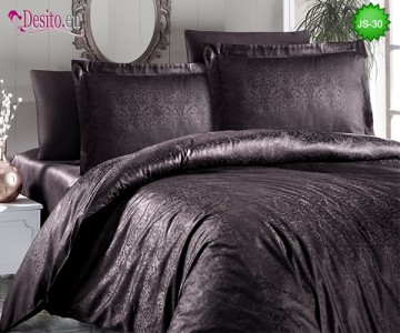 Луксозно спално бельо от памук-сатен с жакард JS-30