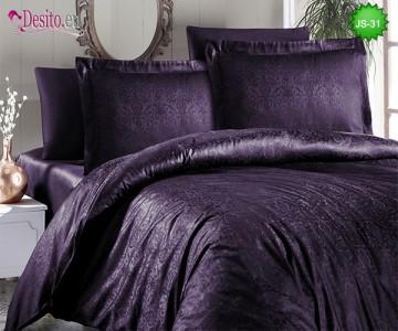 Луксозно спално бельо от памук-сатен с жакард JS-31