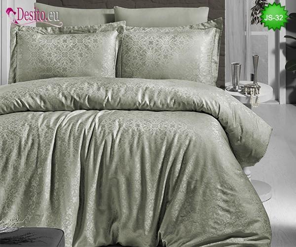 Луксозно спално бельо от памук-сатен с жакард JS-32