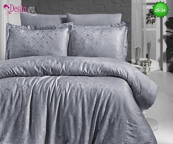 Луксозно спално бельо от памук-сатен с жакард JS-34