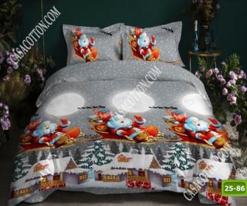 Коледно спално бельо с код 25-86