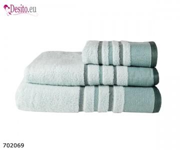 Хавлиени кърпи Мика - синьо с черти
