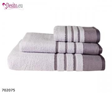 Хавлиени кърпи Мика - лилаво с черти