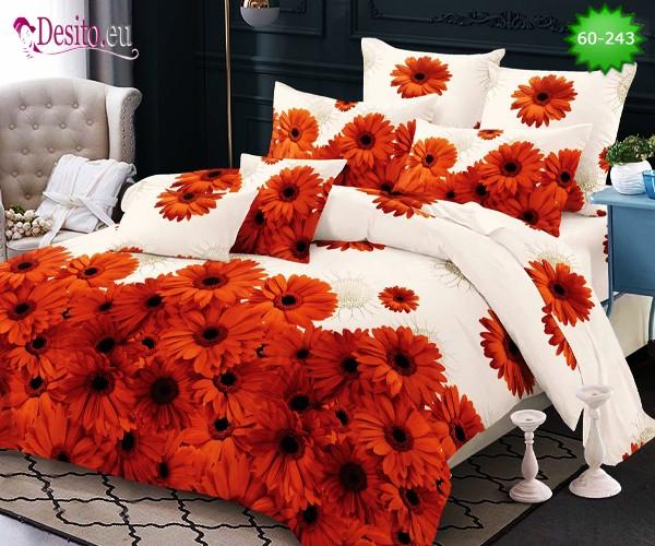 Спално бельо, 100% памук, 6 части с код 60-243