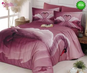 3D Спален комплект 016 SWAN PUDRA
