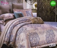 Луксозно спално бельо от памук-сатен с жакард 10-81