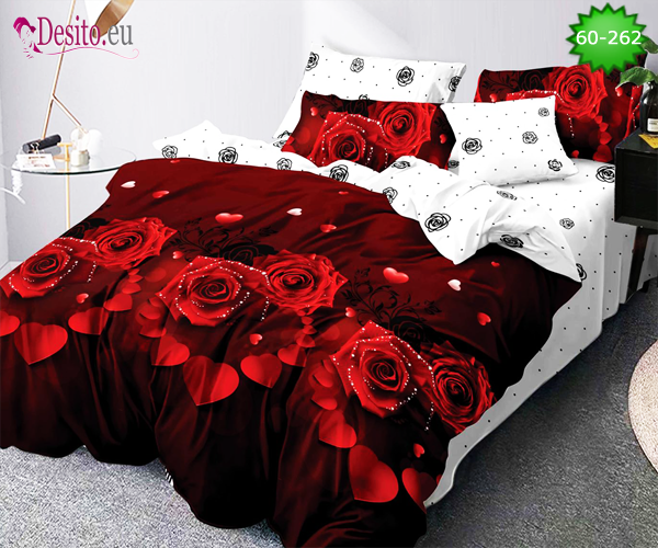 Спално бельо от 100% памук, 6 части с код 60-262