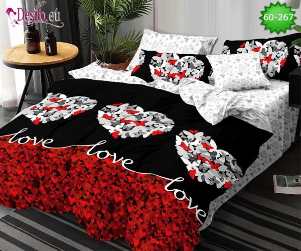 Спално бельо от 100% памук, 6 части с код 60-267