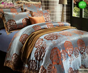 Луксозно спално бельо от памук-сатен с жакард 10-77
