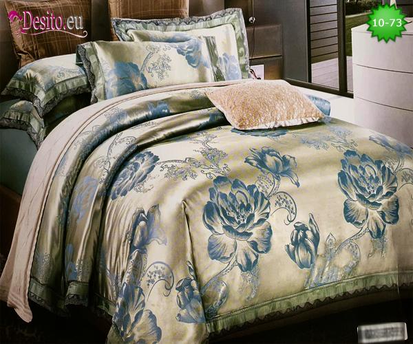 Луксозно спално бельо от памук-сатен с жакард 10-73