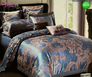 Луксозно спално бельо от памук-сатен с жакард 10-72