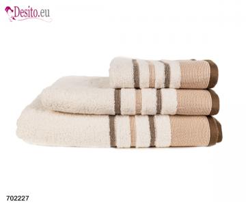 Хавлиени кърпи Мика - бежово с черти 2