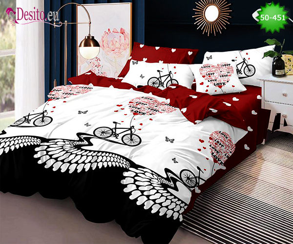Двулицево спално бельо от 100% памук, 4 части с код 50-451