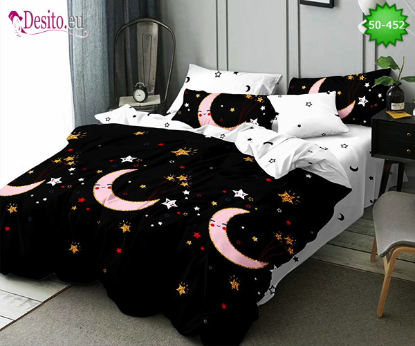 Двулицево спално бельо от 100% памук, 4 части с код 50-452