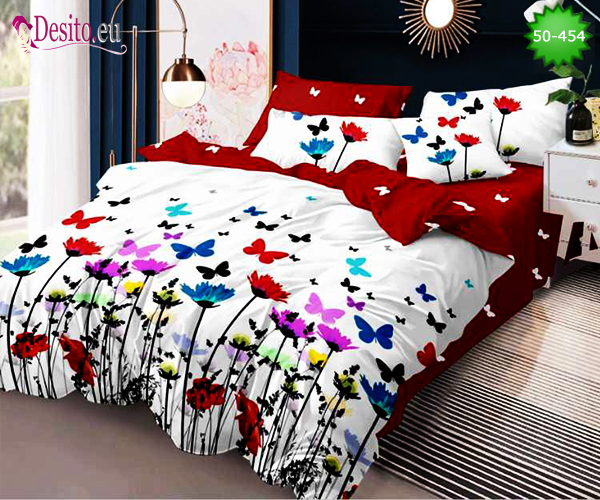 Двулицево спално бельо от 100% памук, 4 части с код 50-454