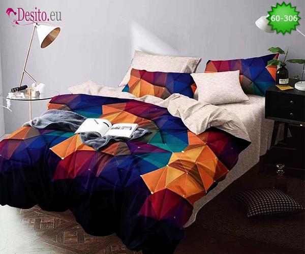 Спално бельо от 100% памук, 6 части, двулицево с код 60-306