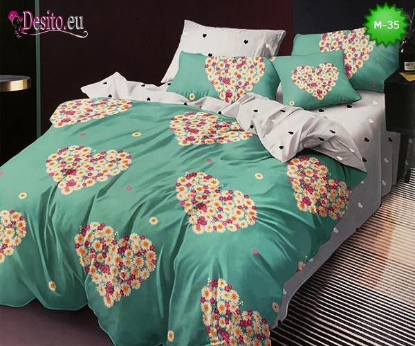 Двулицево спално бельо от 100% памук, 6 части с код M-35