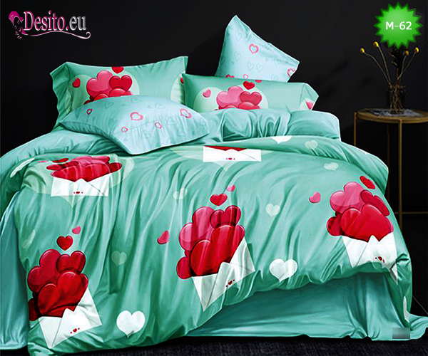 Двулицево спално бельо от 100% памук, 6 части с код M-62