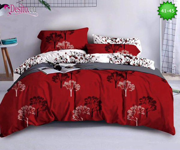 Спално бельо от 100% памук, 4 части - двулицево, с код 41-45