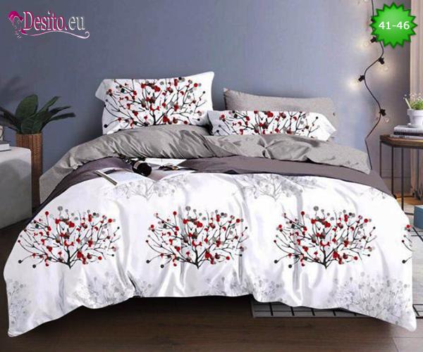 Спално бельо от 100% памук, 4 части - двулицево, с код 41-46