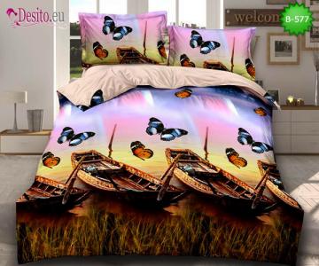 5D спално бельо с код B-577