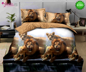 5D спално бельо с код B-593