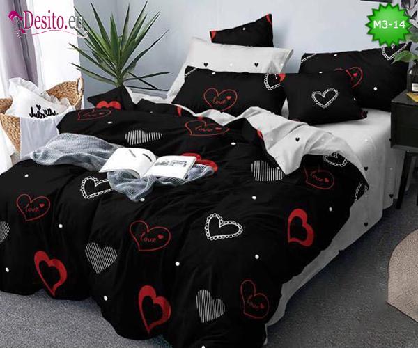 Спално бельо от 100% памук, 6 части - двулицево, с код M3-14