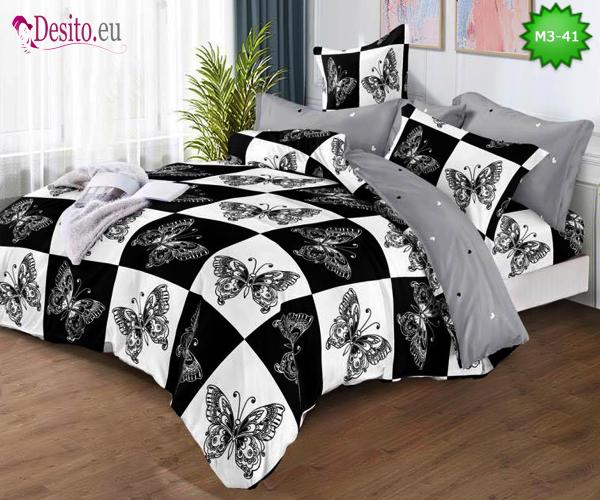 Спално бельо от 100% памук, 6 части, двулицево с код M3-41