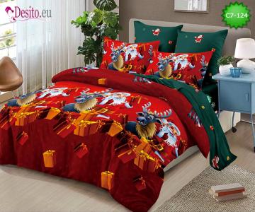 Коледно спално бельо с код C7-124