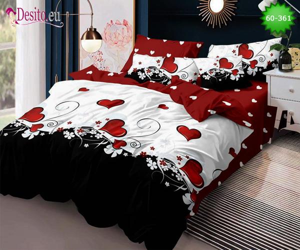 Спално бельо от 100% памук, 6 части, двулицево с код 60-361