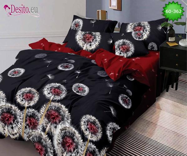 Спално бельо от 100% памук, 6 части, двулицево с код 60-362