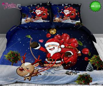 Коледно спално бельо с код 44-115