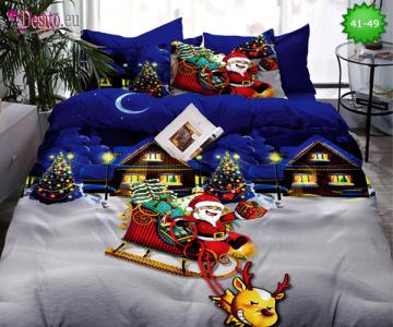 Коледно спално бельо с код 41-49