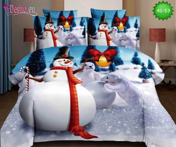 Коледно спално бельо с код 41-53