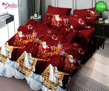 Коледно спално бельо с код T-199
