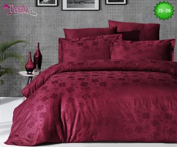 Луксозно спално бельо от памук-сатен с жакард JS-36