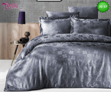 Луксозно спално бельо от памук-сатен с жакард JS-37
