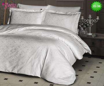 Луксозно спално бельо от памук-сатен с жакард JS-38