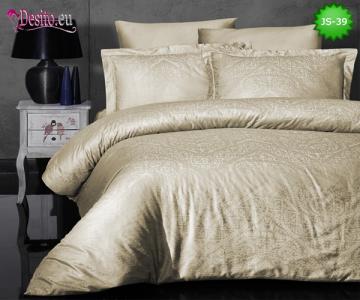 Луксозно спално бельо от памук-сатен с жакард JS-39