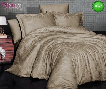 Луксозно спално бельо от памук-сатен с жакард JS-40