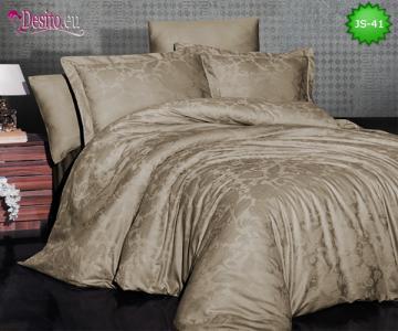 Луксозно спално бельо от памук-сатен с жакард JS-41