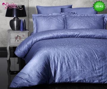 Луксозно спално бельо от памук-сатен с жакард JS-42