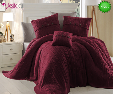 Спален комплект с плетено одеало N-200