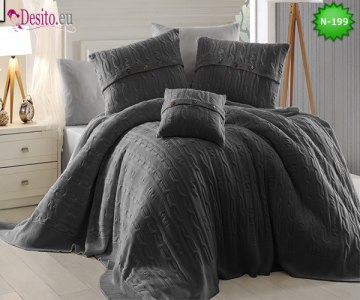 Спален комплект с плетено одеало N-199