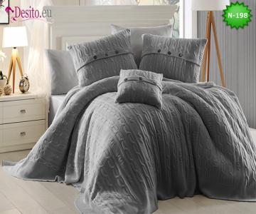 Спален комплект с плетено одеало N-198