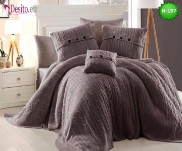 Спален комплект с плетено одеало N-197